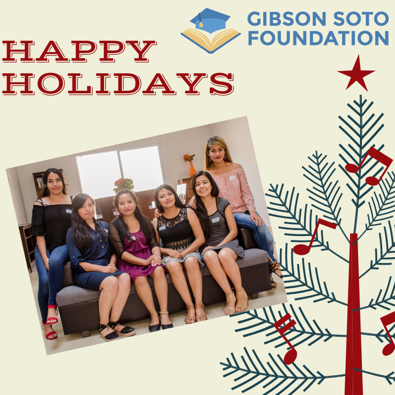 Happy holidays 2019 from Gibson Soto Foundation.